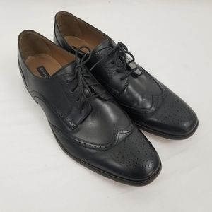 Bostonian Leather Black Wingtip Oxford Dress Shoes